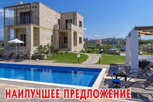 Вилла Диаманта на побережье на Крите